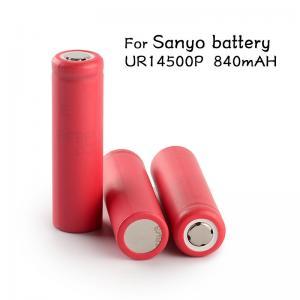 China Genuine Sanyo 14500 vapor ecig mod batteries high capacity 3.7V Sanyo UR14500P 840mAh Sanyo 14500 rechargeable battery on sale