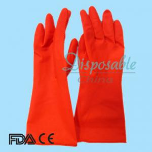 China 50g red colour Mexico convenient beautiful Household Washing unlined Latex Gloves on sale
