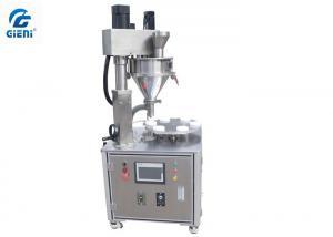 China JLF-2 Semi-auto Single Nozzle Screw Loose Powder Filling Machine on sale