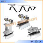Carretilla industrial del cable del adorno del sistema del adorno de la pista de C para el sistema de transportador