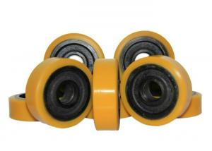 China 127 * 60mm Polyurethane Wheels With Bearings As Industrial Forklift Casters on sale