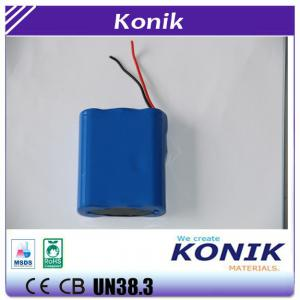 China Konik  Li-ion Battery Pack 3 Rechargeable 18650 Batteries Pack 3.7V 4500/5400/6000/6600mah on sale