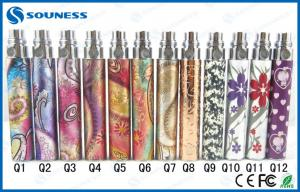 China Patterned HM EGO E Cig Batteries 650mAh eGo Q battery With Gloss Treatment on sale