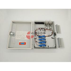 China White 16 Port Outdoor Fiber Optic Termination Box IP65 PC+ABS Plastic 1X16 Splitter Box on sale