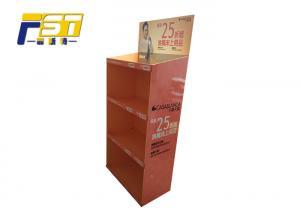 China Matte Lamination Cardboard Floor Displays , Easy Advertising Cardboard Display Racks on sale