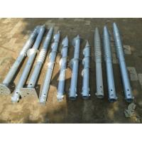 Hot Dipped Galv  Screw Ground Anchor Steel Material For Foundation Flag Poles