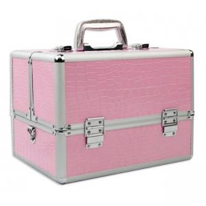 China High Durability Makeup Artist Train Case , Portable Cosmetic Organizer Case on sale