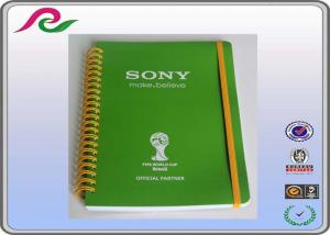 China coated paper cover A5 / A3 / A4 Spiral bound Daily writing notebooks , 80 gsm on sale
