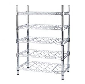 China Wine Bottle Cradle Stainless Steel Kitchen Shelves For Bottle Collection Securely Store on sale