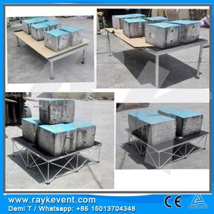 China Heavy load decent  portable outdoor stage Dance floor/ outdoor concert sound system on sale