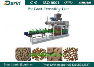 China Double Screw Pet Food Extruder , Unique Dry Pet Food Production Line on sale