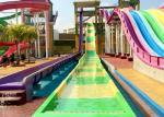 Fun Aqua Park Water Slide Green / Yellow Smooth Fiberglass Family Size
