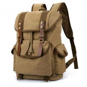 China Unisex Vintage Canvas Travel Rucksack Backpack For Hiking on sale