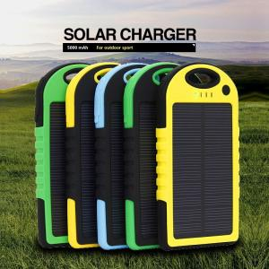 China Waterproof Portable Solar Panel Charger 5000mAh Retail Wholesale Hot sell on sale