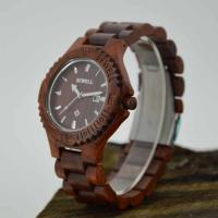 Eco Friendly Wooden Style Watches With 240MM Length Band , 3-10 ATM Water Resistant