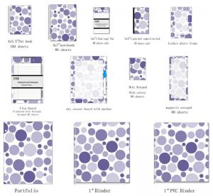 China Mixed Navy Dots Spiral Bound Index Cards , 4x6 colored index cards on sale