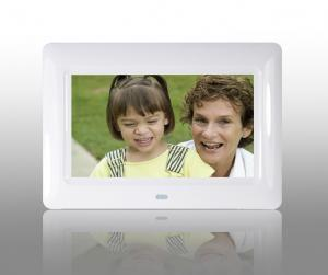 China White 7 Inch TFT High Resolution Digital Picture Frame With USB 2.0 Interface on sale