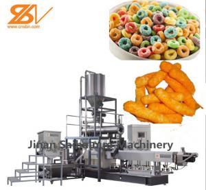 China Twin Screw Corn Puff Making Machine Stainless Steel Corn Ring Making Machine on sale