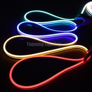China 24v chasing neon flex digital RGB neon flexible strip 11x19mm flat surface on sale
