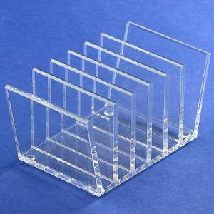 China Acrylic table CD display rack/ clear acrylic CD holder on sale