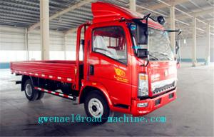 China HOWO 4X2 4T Light Duty Commercial Trucks ,  Cargo Flatbed Truck on sale