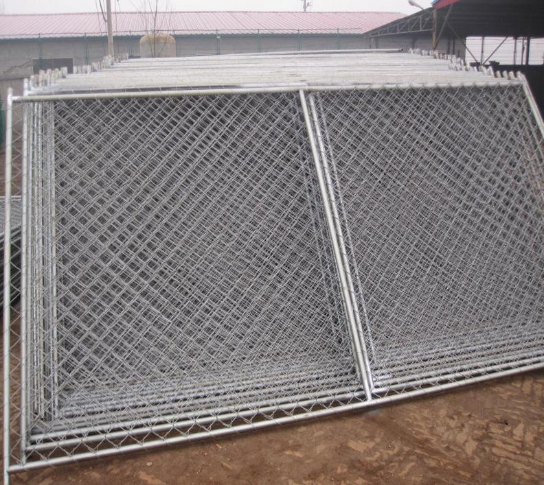 6\'x12\' temporary chain link fence steel tubing 1½(38mm) 1⅗(40mm ...