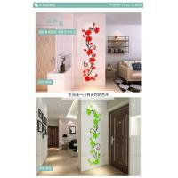 3 d crystal three-dimensional wall TV background wall decoration living room window, refrigerator, wall  stickers