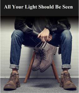 China KHAKI Pig Leather Tooling Lace Up Comfortable Stylish Sneakers Martin Boots on sale