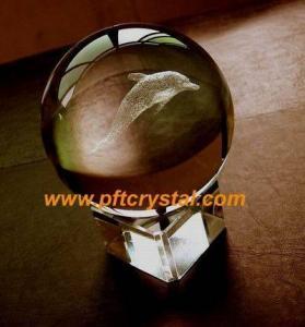 China laser crystal globe on sale