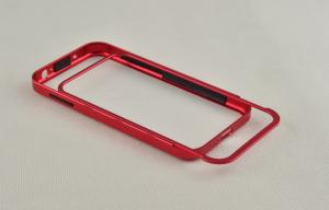 China Red Frame Cover For Samsung Galaxy S4 Metal Case With Aluminum Bumper on sale
