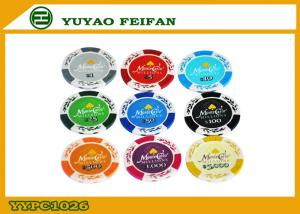 China Personalized 13.5 G Monte Carlo Poker Chips Casino Poker Chip Clay Material on sale