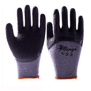 China Latex Coated Gloves Crinkle and Smooth Finished Work Safety Gloves on sale