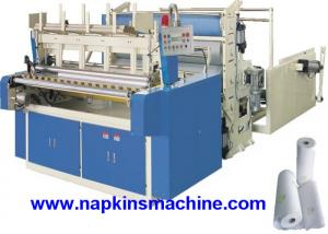 China Horizontal Jumbo Roll Toilet Paper Roll Making Machine , Electric / Pneumatic Control on sale