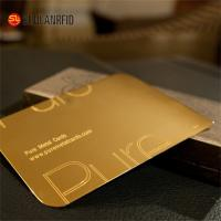 Customize Cheap Embossed Thick Plastic Pvc Luxury Foil Gold Metal Business Cards Printing