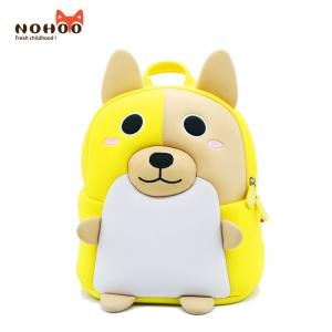 China 3D Corgi preschool animal backpack made of environmentally and non-toxic neoprene material,cute and stylish on sale