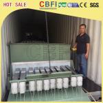 Usine de glace containerisée de bloc de 3 tonnes, grande production de glace de fabricant commercial de bloc
