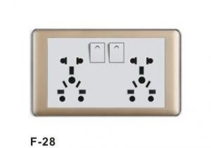 China 10A 250V 2Gang Multi-purpose Electrical Wall Socket Universal Used Wall Socket Plate on sale