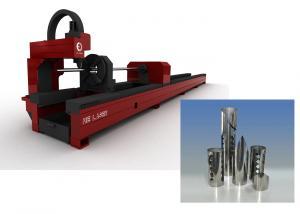 China Mutifunction Fiber Laser Round Tube / Metal Sheet Pipe Cutting Machine on sale