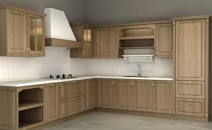 China Wood Veneer Particle Board Kitchen Cabinets With Basket Drawers 720*550mm Base on sale
