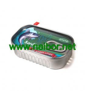 China fake Sardine style tin can metal container for paper clips storage on sale