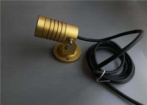 China P5 High Power LED Landscape Spotlights , Outside LED Spotlights With Gold Housing on sale