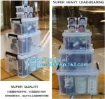 household items 8 compartment clear plastic container storage box, household kids toy clear plastic clothes storage box