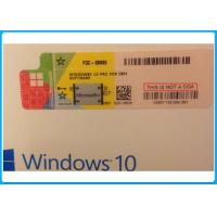 China Windows 10 pro 32 Bit / 64 Bit Product Key Code Microsoft Windows 10 Pro Software with Silver scratch off label on sale