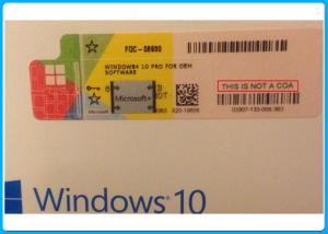 China Windows 10 pro 32 Bit / 64 Bit Product Key Code Win10 Professional COA Key License with Silver scratch off label on sale