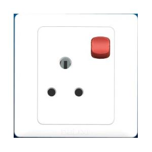 China British-Style One Gang Switch With Neon Light and 15A Wall Switch Socket on sale
