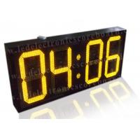 20 Inch Yellow Color Commercial Digital Clock , Led Display Clock 88 / 88 Format