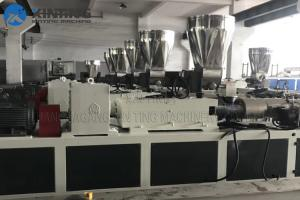 China SZ80/156 PVC Pipe Production Line Extruder Machine Bimetallic Conical Twin Screw Barrel on sale