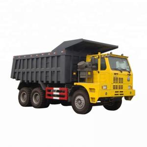 China Manual Transmission Type Mining Tipper Truck / Yellow Sinotruk Howo 6x4 Dump Truck on sale
