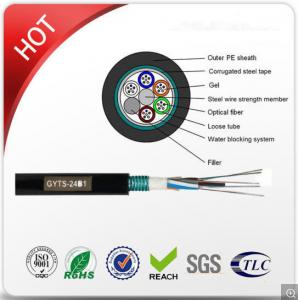China Outdoor GYTS Steel Tape Armoured Cable 2 - 288 Cores Aerial And Duct Installation on sale