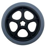 "Low price hot-sale pu tpr pvc plastic 6"" wheelchair wheel"